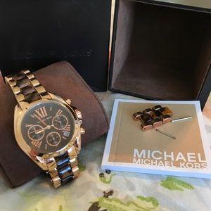 Michael Kors Leopard Print Band Watch